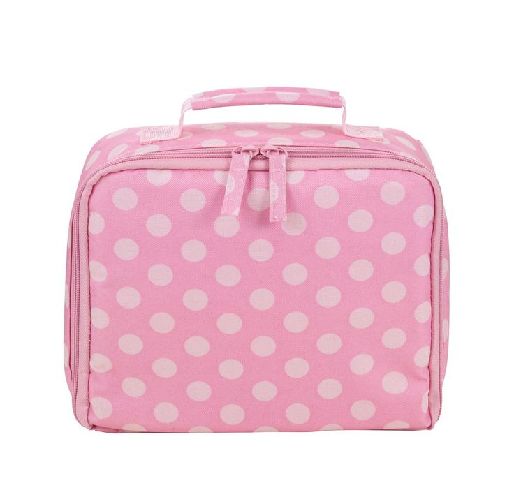 Pink Spot Printed Impertex Fabric Girl Lunch Kit