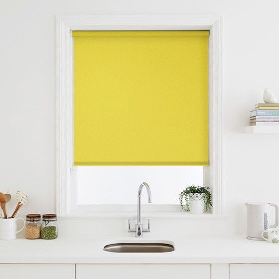 Captivating Elegant Yellow Roller Blind