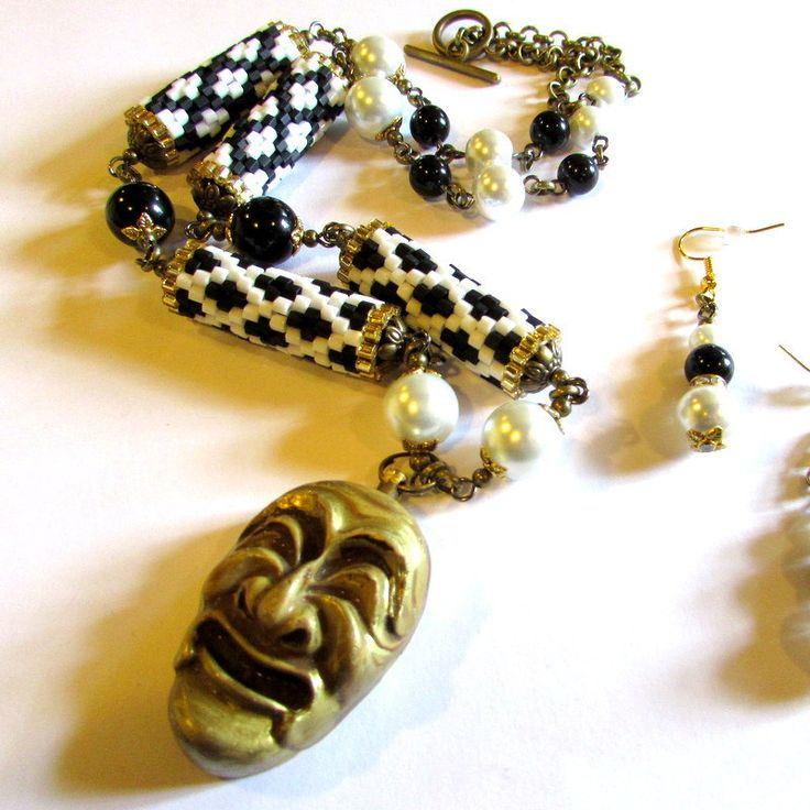 The Phantom of the Opera - necklace by ClaraBijous on Etsy