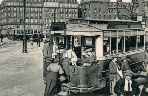 les autobus dans les années 1900 (Paris)