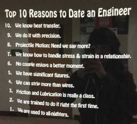 Benefits of dating an engineer