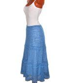 Нарядная летняя юбка из хлопка ( пряжа Италия)