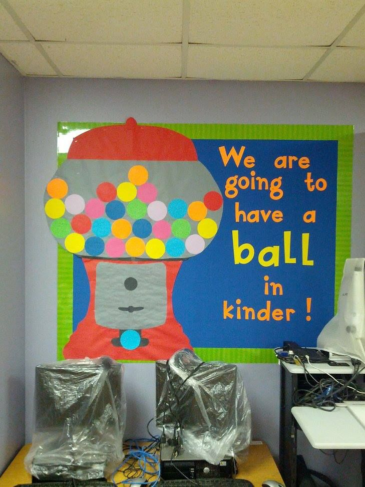 Classroom Decoration Ideas For Grade 7 ~ Gumball machine bulletin board made for a kindergarten