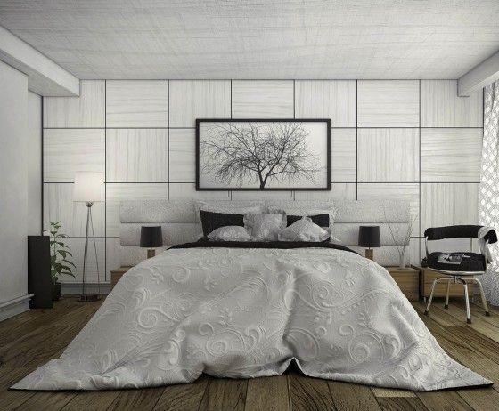 Diseño de dormitorio moderno inspirado en la naturaleza