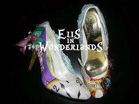 Elis in wonderlands: trasformare vecchie scarpe insignificanti in opere d'arte....