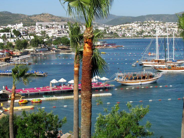 Bodrum: Bay of Gumbet Beach front, from our Balcony