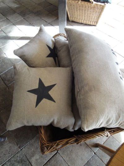 .coussins pour canapé véranda ( à faire avec le lin qui reste )