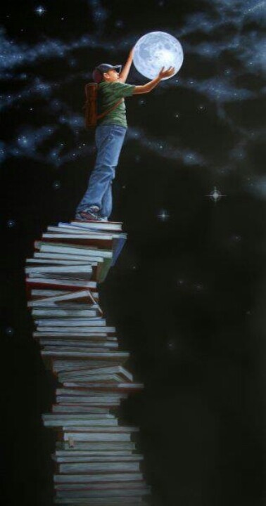 Lost in a world of books!