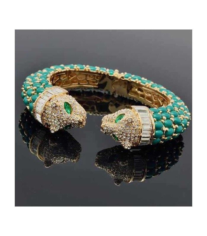 Miriam Stella Fashion Jewelry - Bracciale Tiger #miriamstella #fashionblogger #moda #fashion #madeinitaly #fashionjewelry #jewelry #jewels #bracelet #tiger #turquoise