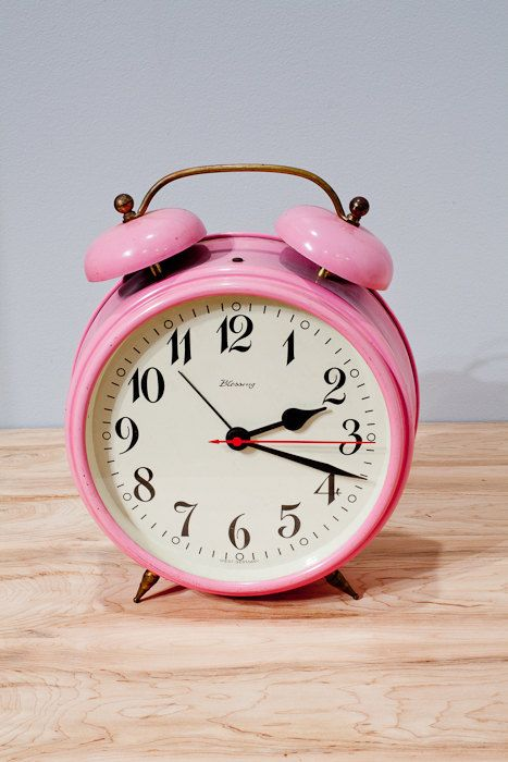 Pink Vintage Clock  Blessing Made in West Germany by BarryVintage, $79.00