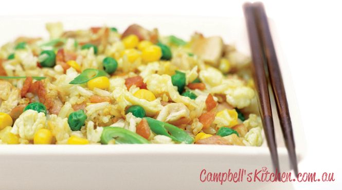 Tasty chicken fried rice