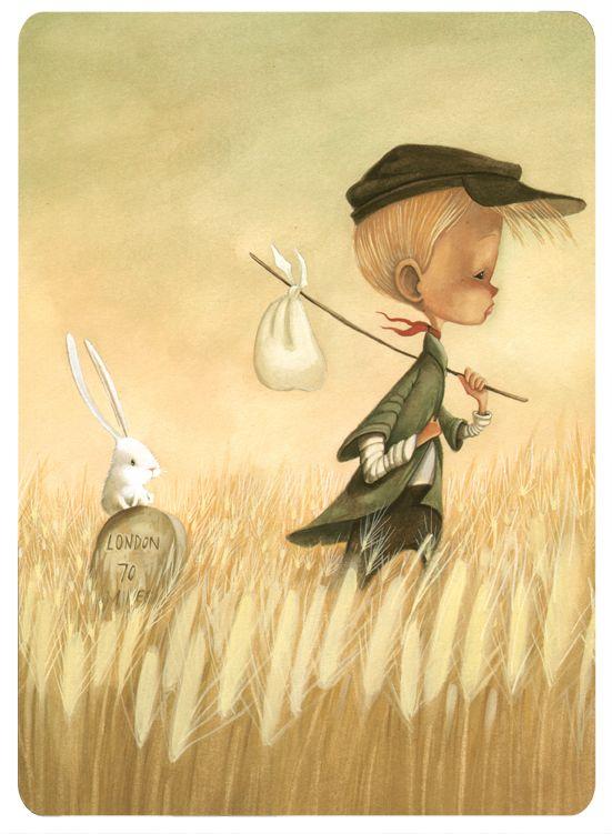 "Daniela Volpari illustration for ""Oliver Twist""."