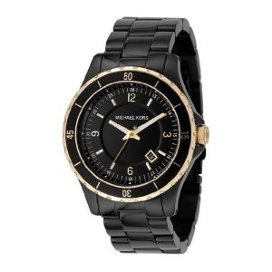 Michael Kors Black and Gold Watch Gorgeous, chunky, classy black and gold Michael  Kors watch. Purchased at Nordstrom. Gently used - only sign of wear is on  ...