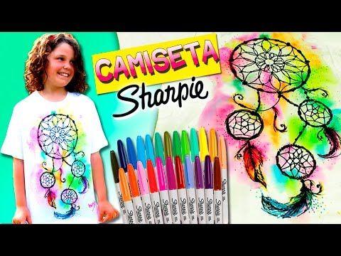 CAMISETAS Personalizadas con SHARPIES (II) Atrapasueños* DIY Sharpie Tie Dye - YouTube                                                                                                                                                                                 Más