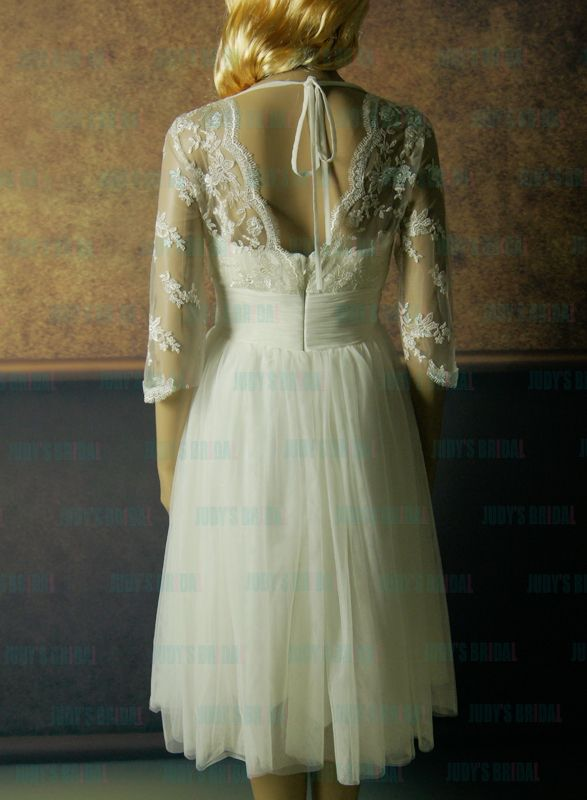 Romantic airy and flowy short inspired vintage lace tulle for Flowy wedding dresses with sleeves