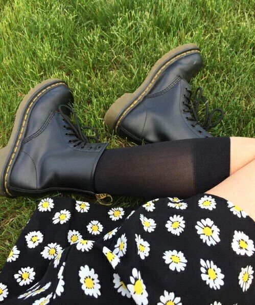Image result for black boots tumblr