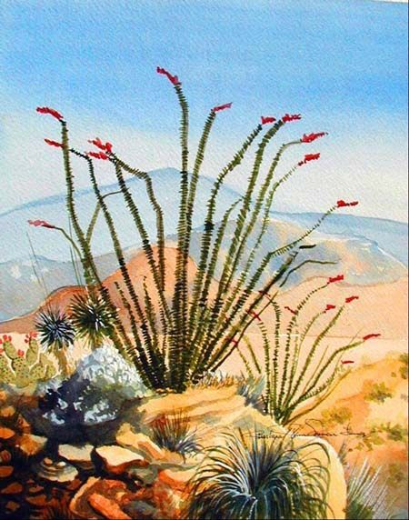 Southwest Art | Desert landscape Southwest Art-Artist Barbara Ann Spencer Jump