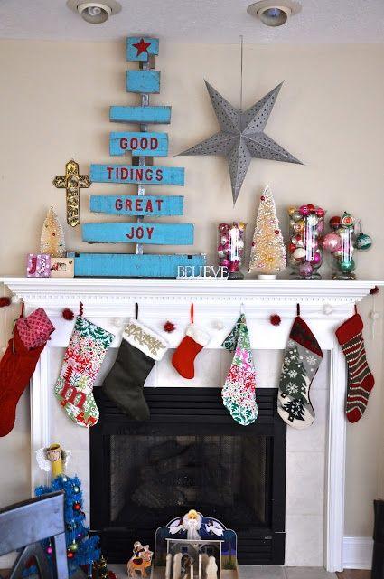 Eclectic Christmas Decor | #christmas #xmas #holiday #decorating #decor