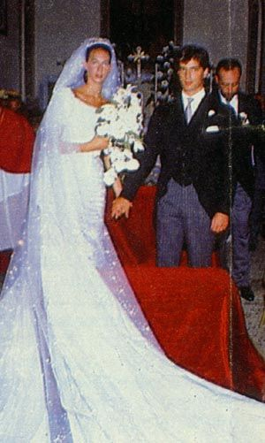 Wedding of Princess Bianca of Savoy-Aosta  and Conte Giberto Arrivabene-Valenti-Gonzaga 1988