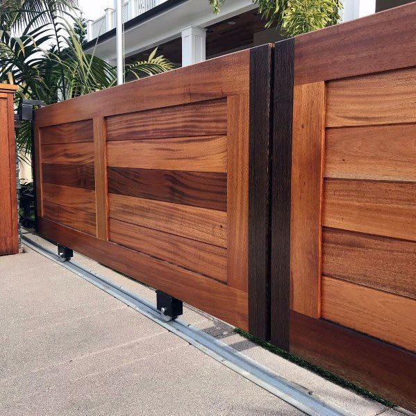 Top 40 Best Wooden Gate Ideas Front Side And Backyard Designs Wooden Gate Designs House Gate Design Front Gate Design