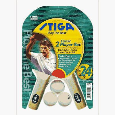 Other Table Tennis Ping Pong 97076: Stiga 2 Player Table Tennis Racket Set (Pips Out) -> BUY IT NOW ONLY: $31.99 on eBay!