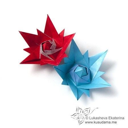 58 best origami flowers images on pinterest paper crafts i adore modular origami technique kusudamas and papercraft geometric objects mightylinksfo