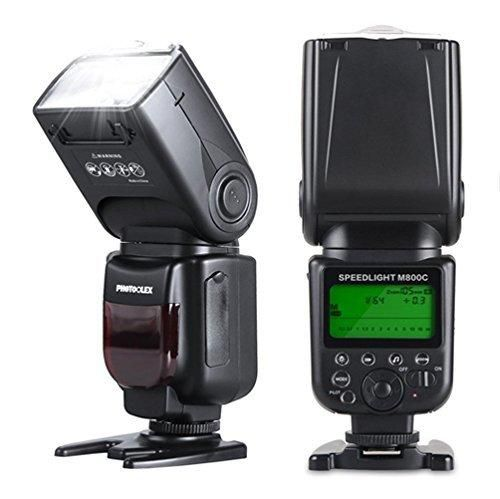 Photoolex M800C 1/8000s Flash Speedlite 580EX II TTL Speedlight for Canon 1Ds Mark III 1Ds Mark II 1D Mark IV 1D Mark III EOS 700D 650D and Other Canon Digital DSLR Cameras