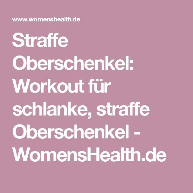 Straffe Oberschenkel: Workout für schlanke, straffe Oberschenkel - WomensHealth.de