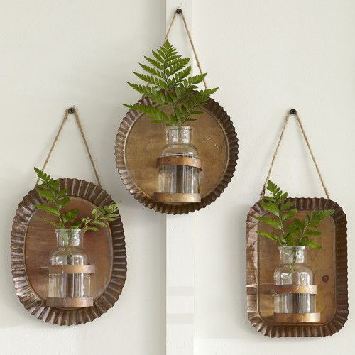 Found it at Joss & Main - 3-Piece Nora Wall Vase Set...GROW HERBS IN THE KITCHEN