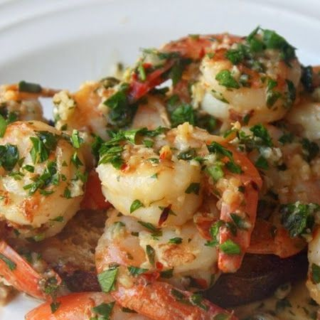 Garlic Shrimp ~ This would go well with the butter beans or Udon noodles. Saturday dinner!!