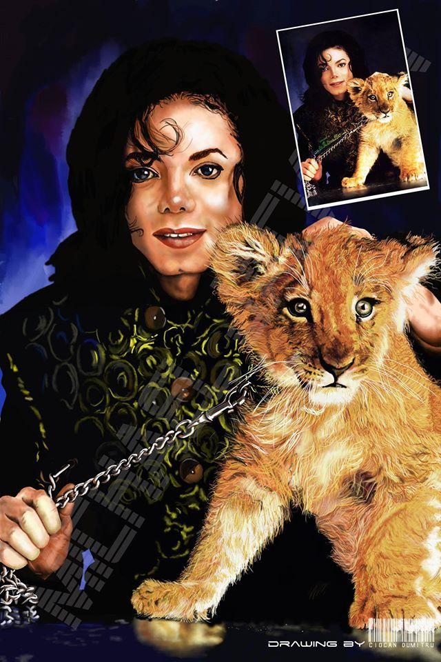 Michael Jackson - Portrait; digital portraits;  realistic drawing; drawing by Ciocan Dumitru