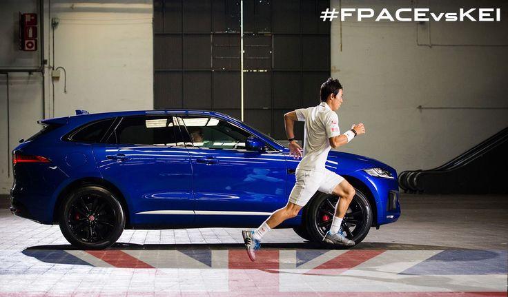 Jaguar FPACE vs Kei Nishikori