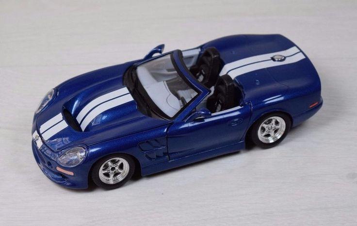 Vintage Shelby Series 1 (1999) Burago Made in Italy 1:24 Blue Metal Model Car #Burago #Shelby