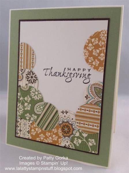 Thanksgiving Circles by LaLatty - Cards and Paper Crafts at Splitcoaststampers