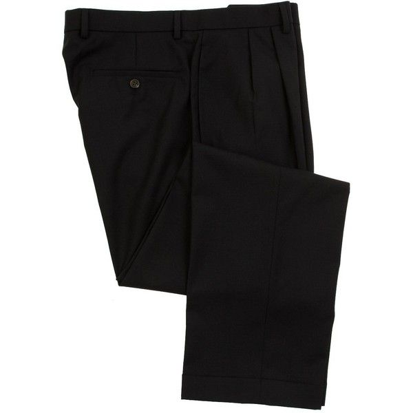 Ralph Lauren Wool Dress Pants For Men Classic Double Pleated Trousers ($57) ❤ liked on Polyvore featuring men's fashion, men's clothing, men's pants, men's dress pants, ralph lauren mens dress pants, mens wide leg dress pants, mens wool dress pants, ralph lauren mens pants and mens wool pants