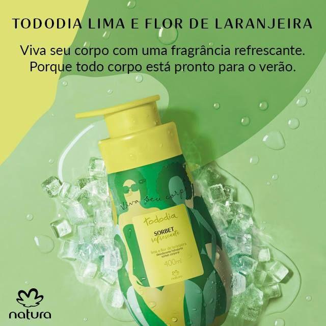 O Desodorante Hidratante Sorbet Corporal Lima E Flor De Laranjeira