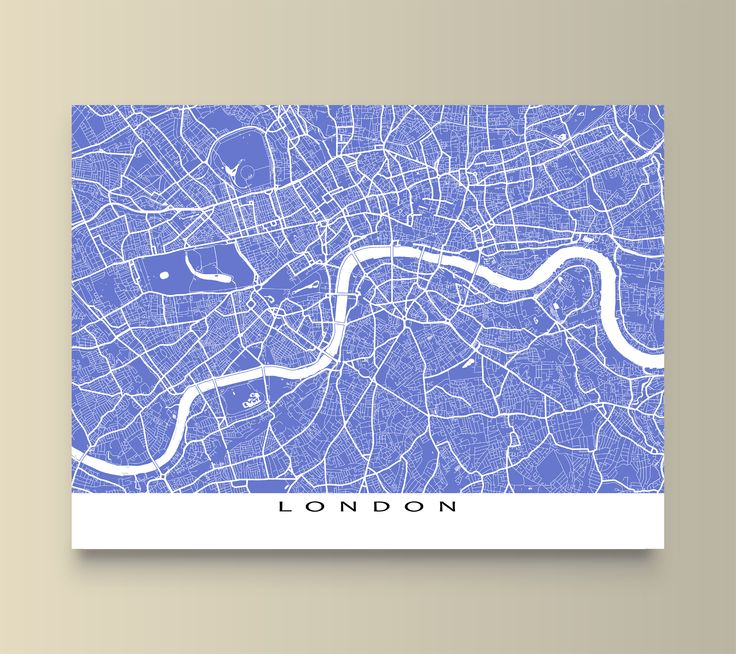 London, UK street map print. Available in 20 different colours. #London #UnitedKingdom  #map