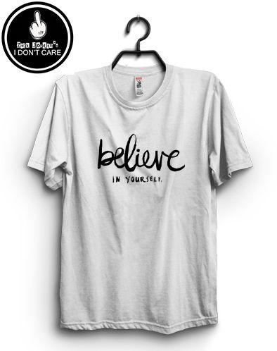 Zack Jordan T-shirt. believe in yourself