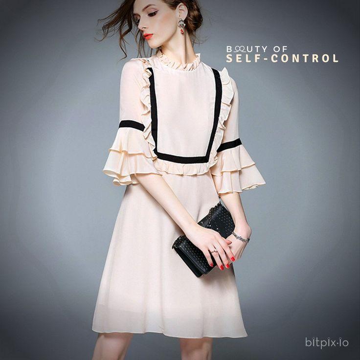 Beauty Of Self-Control Ruffle Dress