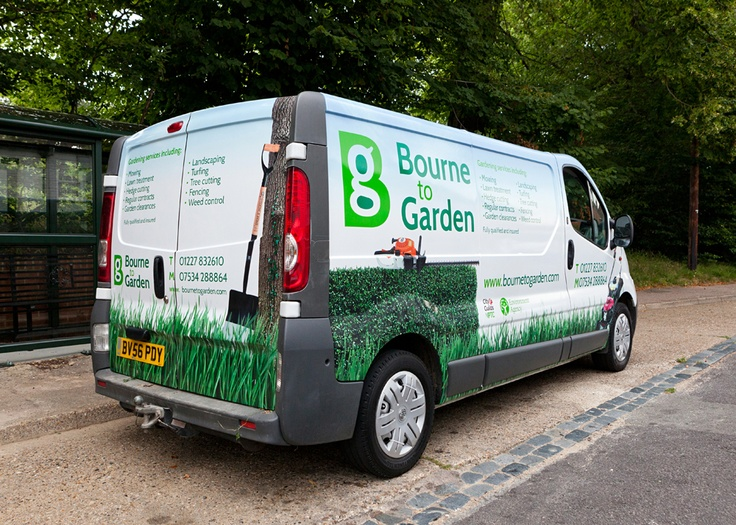 Here's a rather fun #VanLivery we did a little earlier on this year for a #Gardening company based in #Canterbury #Kent