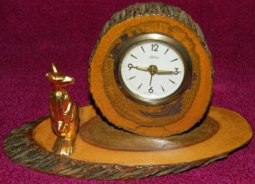 Vintage Mulga Wood Australian Souvenir Alarm Clock | eBay