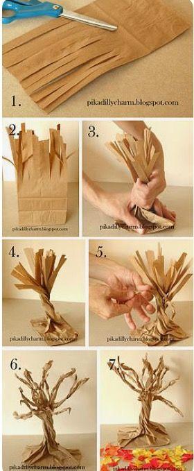 Manualidades con bolsas de papel