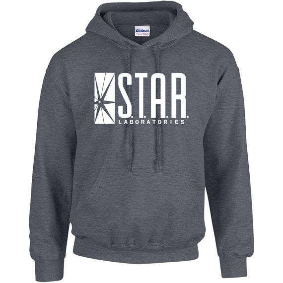 Perfect for everyday use and awesome gifts!  Awesome Hoodie sweatshirts / crewnecks. S.T.A.R Laboratories Labs Sweatshirt / Sweater / Crewneck Hoodie! Comfortable, warm unisex sweatshirt with a high quality print.  50% cotton, 50% polyester double-needle stitching throughout set-in sleeves 1x1 ribbed collar, cuffs and waistband with spandex  Custom orders are welcome, please contact use through Etsy for any custom requests (extra charges apply).  SIZING:  Unisex adult fit. Plea...