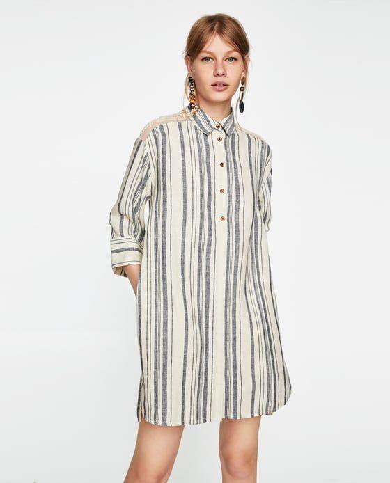 c8bba84333 Women's Dresses | New Collection Online | ZARA United Kingdom | zara shop |  Linen dresses, Dresses, Striped linen