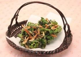 菜の花と桜海老のかき揚げ 海苔風味