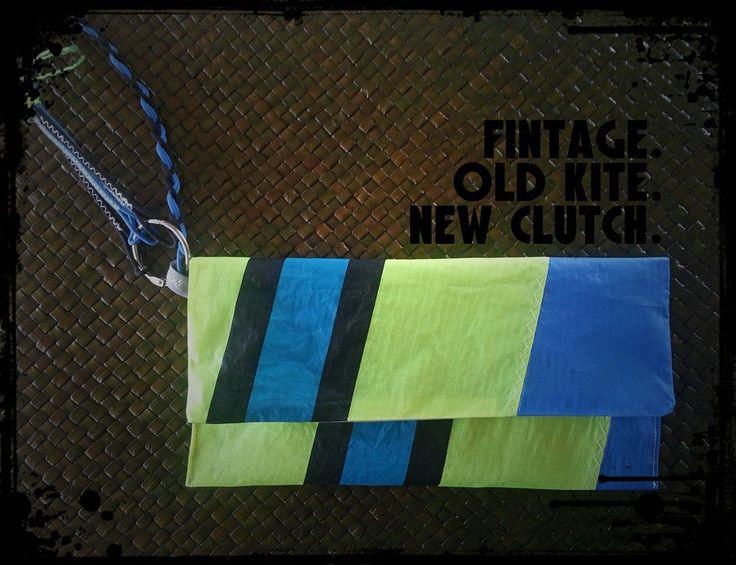 Old Kite Turned Into New Clutch. Upcycle.