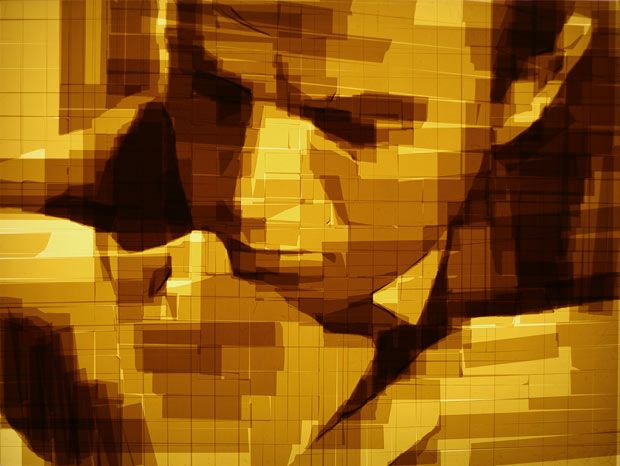 Parcel tape art by Mark Khaisman