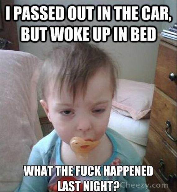WTF happened last night...: