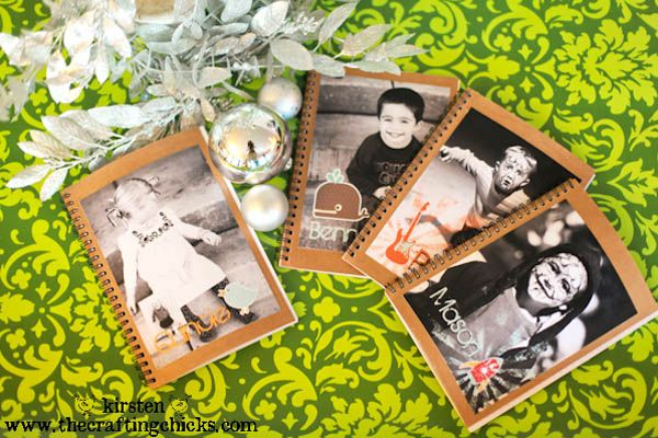 Mod Podge photo notebooks from @The Crafting Chicks