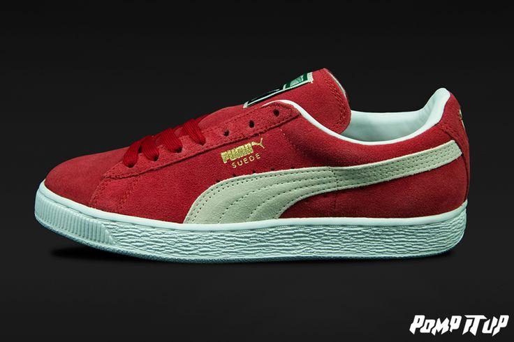 Puma Suede Classic  team regal red-white Sizes: 36 to 46 EUR  Price: CHF 90.-  Unisex   #Puma #PumaSuede #PumaClassic #SuedeClassic #Sneakers #SneakersAddict #PompItUp #PompItUpShop #PompItUpCommunity #Switzerland